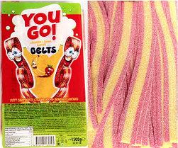 You GO язычки клубника банан strawberry banana (кислые) 1,5кг