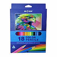 Цветные карандаши BRADEN, 18 цветов