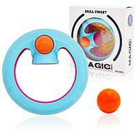 Игрушка антистресс Magic Circle цвета оранжевый, голубой и розовый