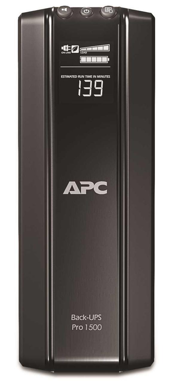 Источник бесперебойного питания APC Back-UPS Pro, Line-Interactive, 1500VA / 865W, Tower, IEC, LCD,