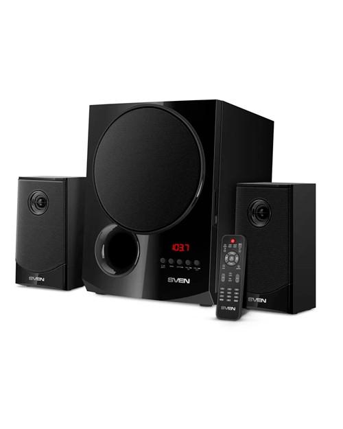 SVEN Колонки MS-2080 черный (70W, FM, USB/SD, Display, RC, Bluetooth)
