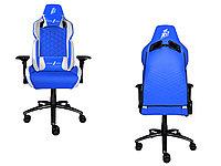 Игровое компьютерное кресло 1stPlayer DK2, Blue/White, фото 1