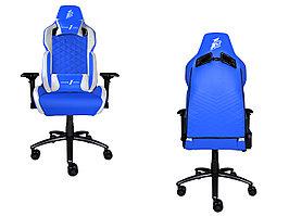 Игровое компьютерное кресло 1stPlayer DK2, Blue/White