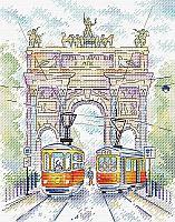 Набор для вышивания крестиком на канве  М-520 «Триумфальная арка».