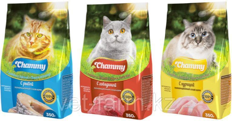 Chammy 1.9кг сухой корм для кошек