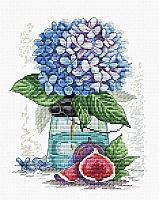 Набор для вышивания крестиком на канве  «Сказочная гортензия».