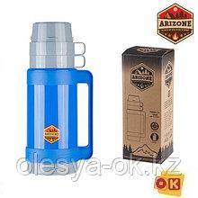 Термос 1л., пластик/стекло, две кружки  ARIZONE (27-225481)