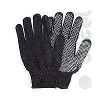 Перчатки №40 К черные с белой точкой