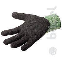 Перчатки №50 зеленые черная ладонь