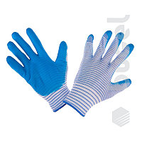 Перчатки №35 М голубые полоска