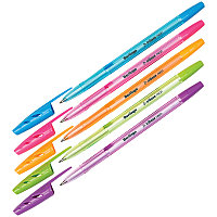 """Ручка шариковая Berlingo """"Tribase Neon"""" синяя, 0,7мм, корпус ассорти"""