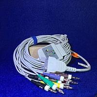 Кабель ЭКГ Mac 500; 600; 800; 1100; 1200; штекер banana 4mm ЭКГ