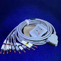 ЭКГ кабель для GE Marquette, Mac 500; 600; 800; 1100; 1200 штекер banana 4mm