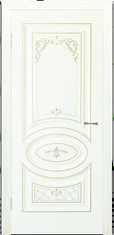 Межкомнатная дверь ДЛ 515 - Крем дерево золото