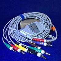 Кабель пациента ЭКГ универсальный, штекер banana 4mm IEG