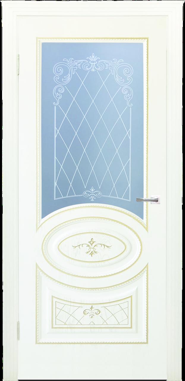 Межкомнатная дверь ДЛ 515_1 - Крем дерево золото