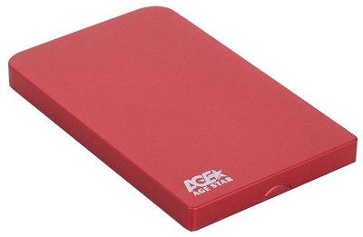 "External 2,5"" Case SATA to USB 2.0, Agestar SUB201, power via USB, red"