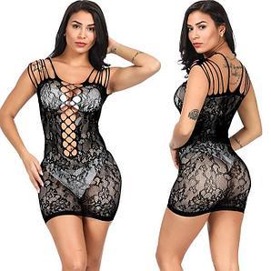 Мини - платье в сеточку.