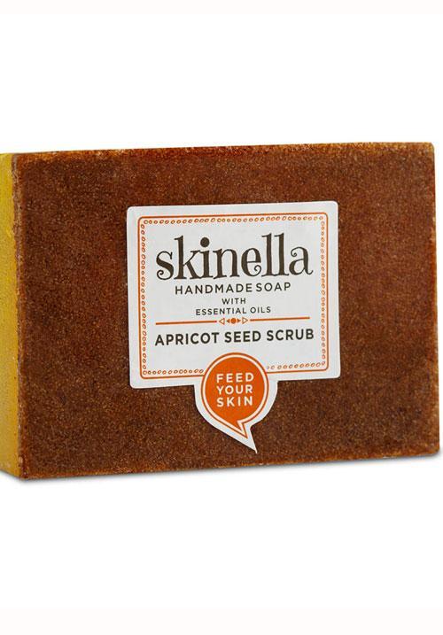 Мыло скраб  с абрикосовыми косточками, 100 гр, Skinella
