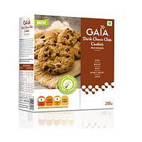 Печенье с темным шоколадом, 200 гр, Gaia