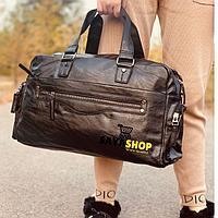 Спортивная дорожная сумка коричневая