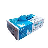 Перчатки S 100шт голубые эластомер Medilex
