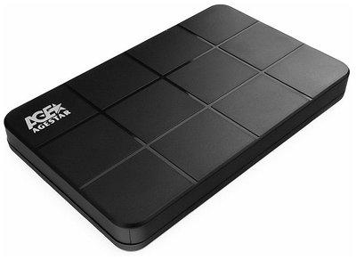 "External 2,5"" Case SATA to USB 3.0, Agestar 3UB2P1, power via USB, black"