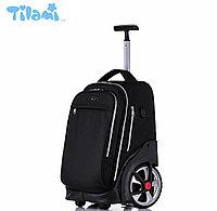 Школьный рюкзак на колесах Tilami BLACK ELEGANT(Стильный черный) для тинейджеров, подростков, студентов