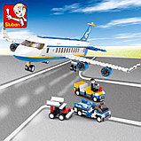 Конструктор Sluban Авиация: Аэробус , 493 деталей аналог лего Lego City Аэропорт, фото 2