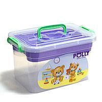 """Контейнер для аптечки """"POLLY"""" 6,5 л с вкладышем фиолетовый с медвежатами 89920 (003)"""