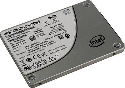 SSD SATA 480 GB Intel D3-S4510 Series, SSDSC2KB480G801 серый накопитель
