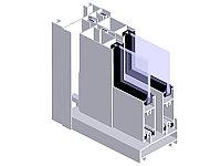 Светопрозрачная стеклянная раздвижная система РС60