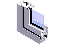 Светопрозрачная стеклянная распашная система КП47