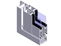 Светопрозрачная стеклянная раздвижная фасадная система РС45