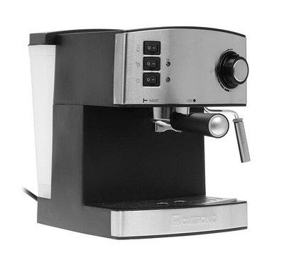 Кофемашина рожковая Clatronic ES-3643 черный/серебро