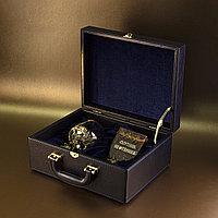 Великолепный подарочный набор, для настоящего нефтяника! Бронзовый бокал с нефтяником и карманная книжка «