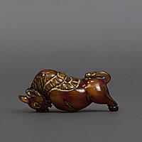 Нэцкэ «Бык» символизирует надежность, спокойную силу. Япония, начало ХХ века