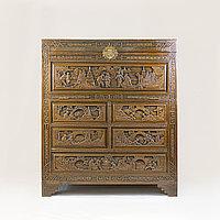 Шкаф для хранения коллекций Китай. середина- II половина XX века Массив дерева, ручная резьба
