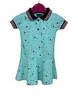 Платье тенниска в стиле POLO для девочек