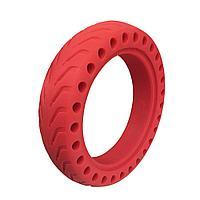 Литая покрышка/резина/шина,красная для Xiaomi Mijia Electric M365/Pro,круглая