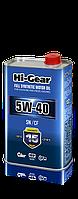 Синтетическое моторное масло hi-gear 5w40 sn/cf, 1л