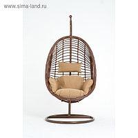 Подвесное кресло, с подушкой, искусственный ротанг, цвет коричневый, 44-004-16