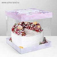 Складная коробка под торт «Моменты счастья», 30 × 30 см