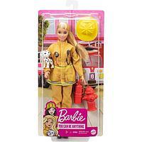Кукла Барби «Пожарный» в пожарной форме и с тематическими аксессуарами