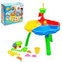 Столик для игры с песком и водой «Пляжный замок»
