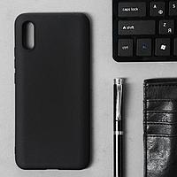 Чехол Innovation, для Xiaomi Redmi 9A, силиконовый, матовый, черный