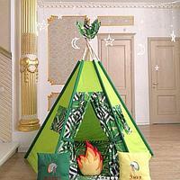 Детская палатка вигвам 6-ти гранный Джунгли