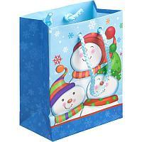 Пакет подарочный новогодний 11*13,5*6см Русский дизайн ламинированный
