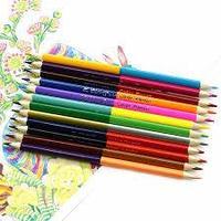 """Карандаши """"Yalong"""", 12штук 24 цвета в картонной упаковке"""
