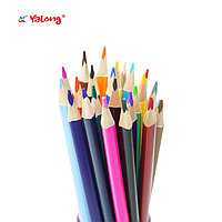 Карандаши цветные 12 цветов Yalong+точилка трехгранные туба картонная